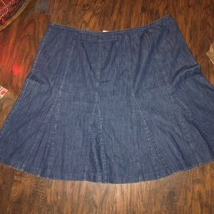1adaf4da2d109 Plus size denim jean skirt modest 22W woman Aline